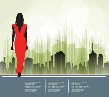 Silhouette of girl, vector Stock Vector - 18599570