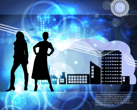 Silhouette of girls, vector Stock Vector - 18622362
