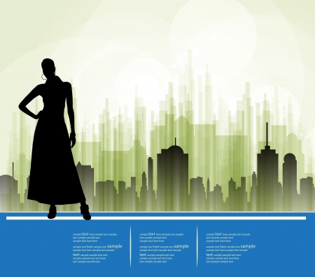 Silhouette of girl Stock Vector - 18622367