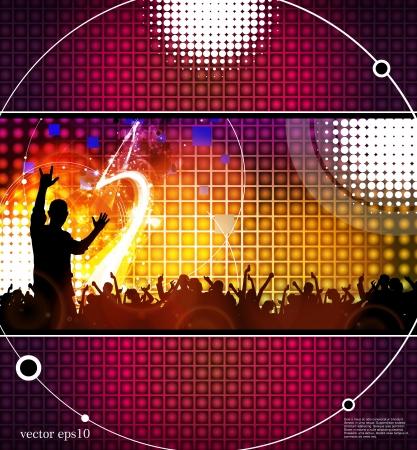 Les gens dansent dans le club Illustration