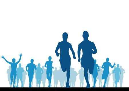 runners: Sport vector illustration