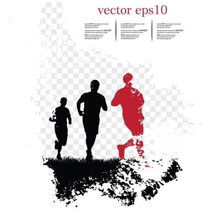 Arrière-plan avec les coureurs. Vector illustration Illustration