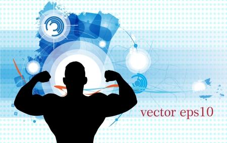 deltoids: Bodybuilding. Vector illustration