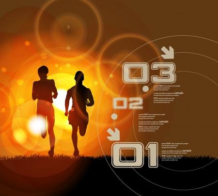 illustration of man running in marathon  Stock Vector - 18881583