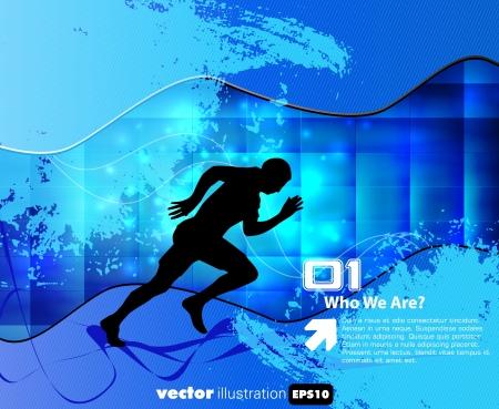 Sport illustration. Vector background  Vector