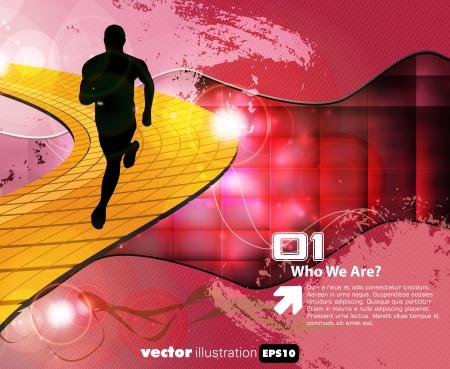 endurance run: Sport illustration. Vector background