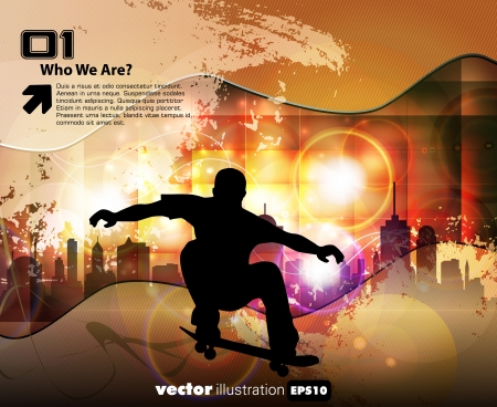 Skateboarder. Vector Stock Vector - 18966086