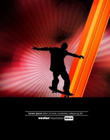 Skateboarder. Vector Vector