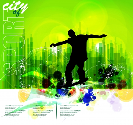 Skateboarder. Vector Stock Vector - 18967919