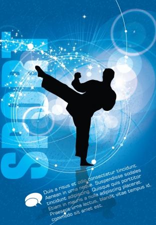 karate: Warrior. Vector illustration