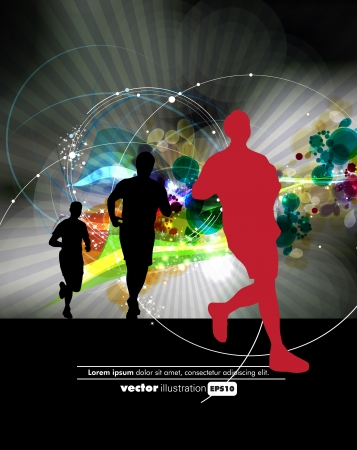 Sport poster. Vector illustration  Vector