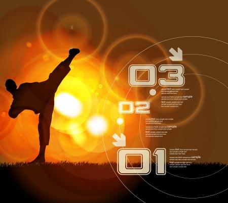 kyokushin: Karate. Vector illustration