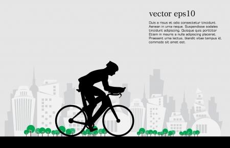 Sport road bike rider bicycle. Vector Иллюстрация