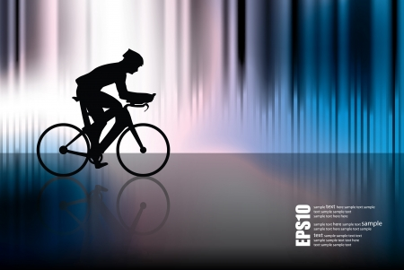 Road bike rider. Vector