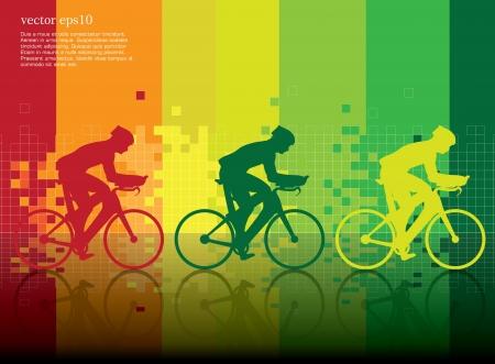 összpontosított: Kerékpárok. Vektor