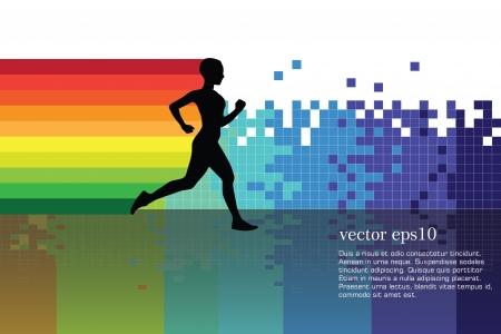 Sport vector illustration Vettoriali