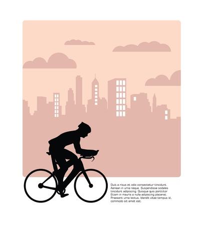 Cycling. Vector Vector