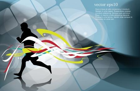 sports background: Sport vector illustration Illustration