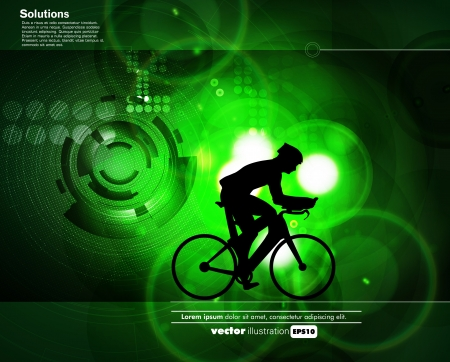 Cycling. Vector Stock Vector - 19050159