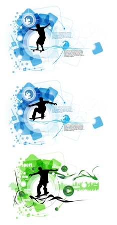 Skateboarder. Vector Stock Vector - 19050202