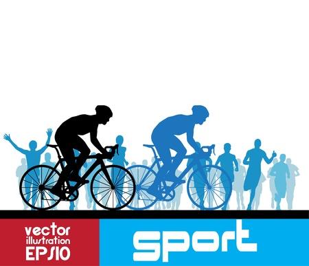 summer tires: Ciclismo. Vector