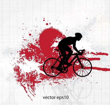 grunge cross: Ciclismo. Vector