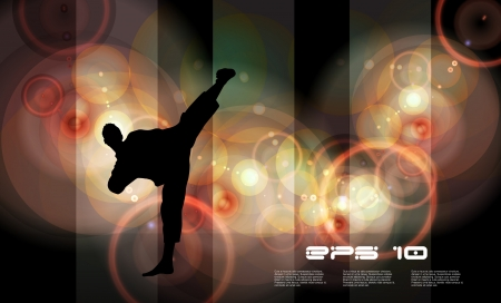 kickboxing: Karate  Vector illustration Illustration