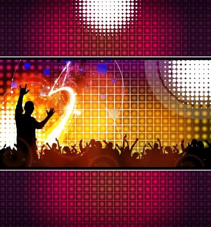 indigent: Dancing people  illustration Stock Photo