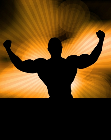 male bodybuilder: Bodybuilding illustration
