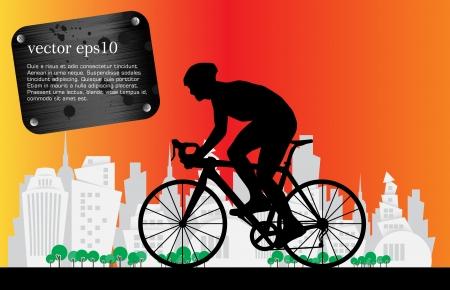 Cycling illustration  Vector