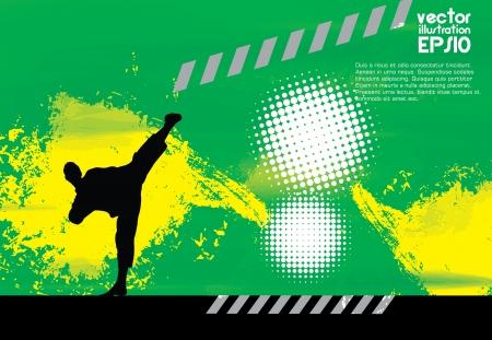 combative sport: Karate Illustration