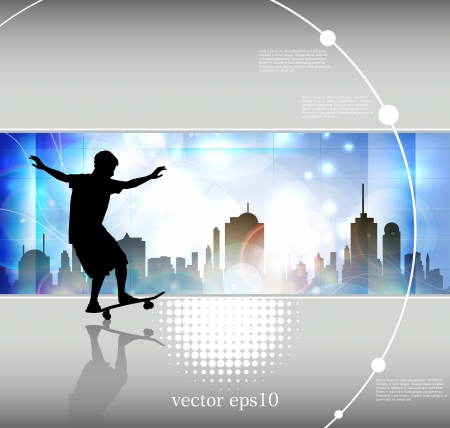 Grunge skateboarding