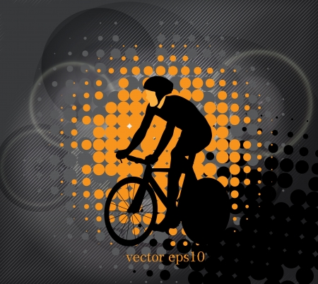 Cycling. vector illustration  Vector