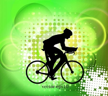 Cycling. vector illustration  Vector