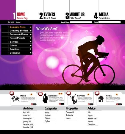 page layout: Modern web page layout design