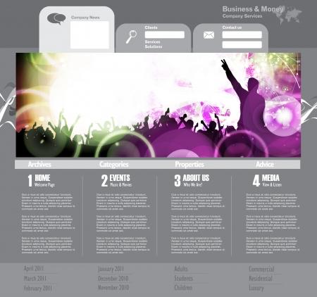 Web site design template, vector.  Stock Vector - 19354067