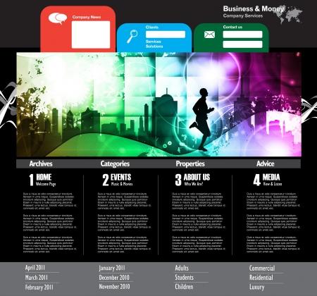 Web site design template, vector. Stock Vector - 19354059