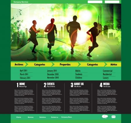 Site web modèle de conception, vecteur. Illustration