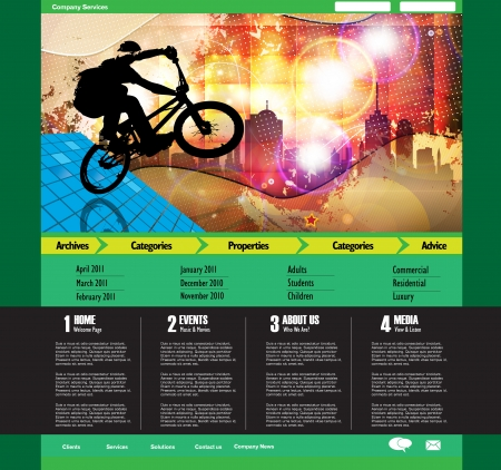 Web site design template, vector.  Vector