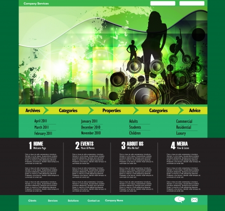 Vector web site template Vector