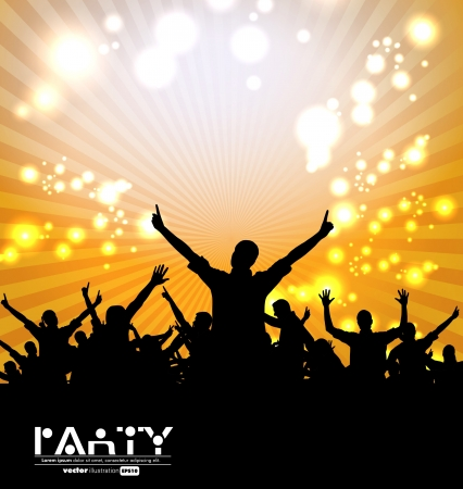 clubing: Clubbing party. Vector illustration