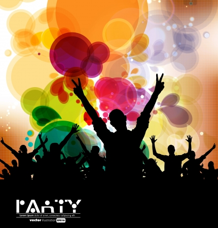 party club: Music event background