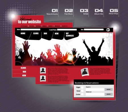webpage: Vector web site design template
