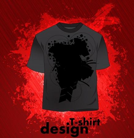 T-shirt design. Vector  Vector