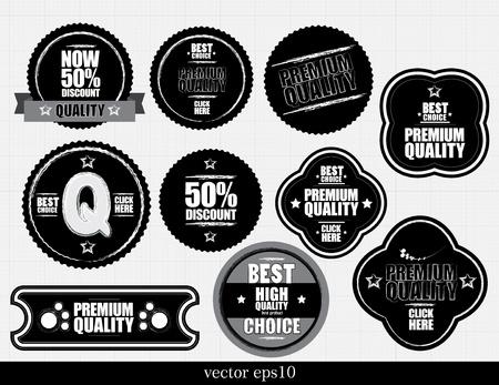 Set of Premium Quality Labels Vector