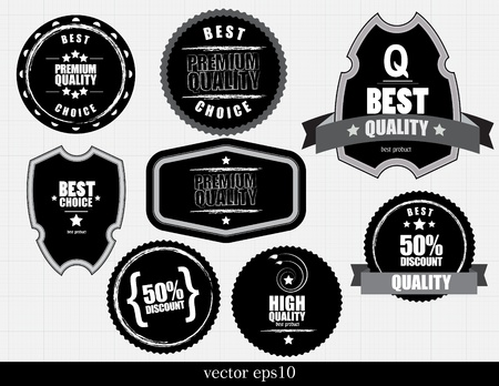 Discount and Best Quality Label Vector