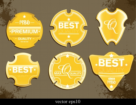 Vector. Gold classic labels  Vector