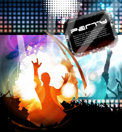 dance music: Music event illustration. Vector