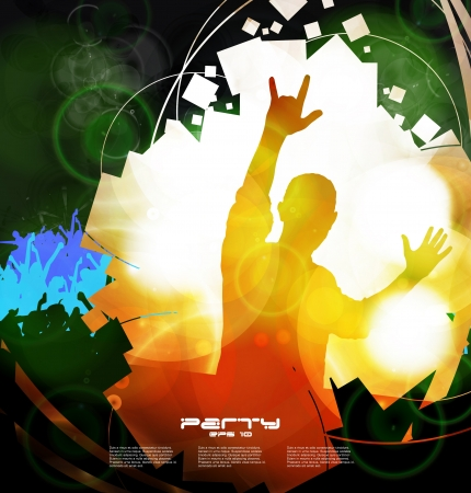 music dj: Music event background for poster.