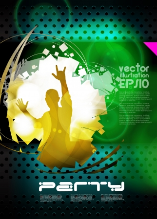 Music event background for poster. Vector eps10 illustration Ilustração